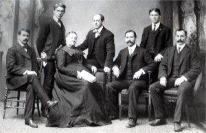 1906 - McGee Brothers: Richard, Albert, Olivia (mother), Thomas Stewart, John J, Solon, and Oliver